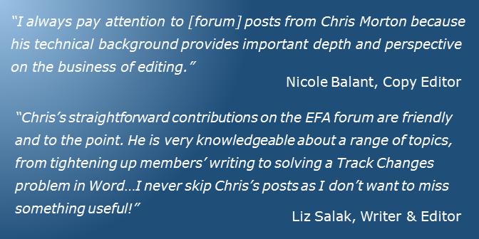 EFA Forum Testimonials